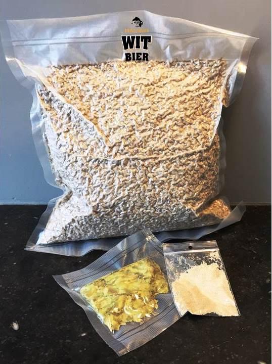 Een ingredientenpakket om zelf Wit Bier te brouwen