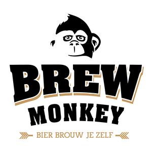 Brew Monkey logo wit